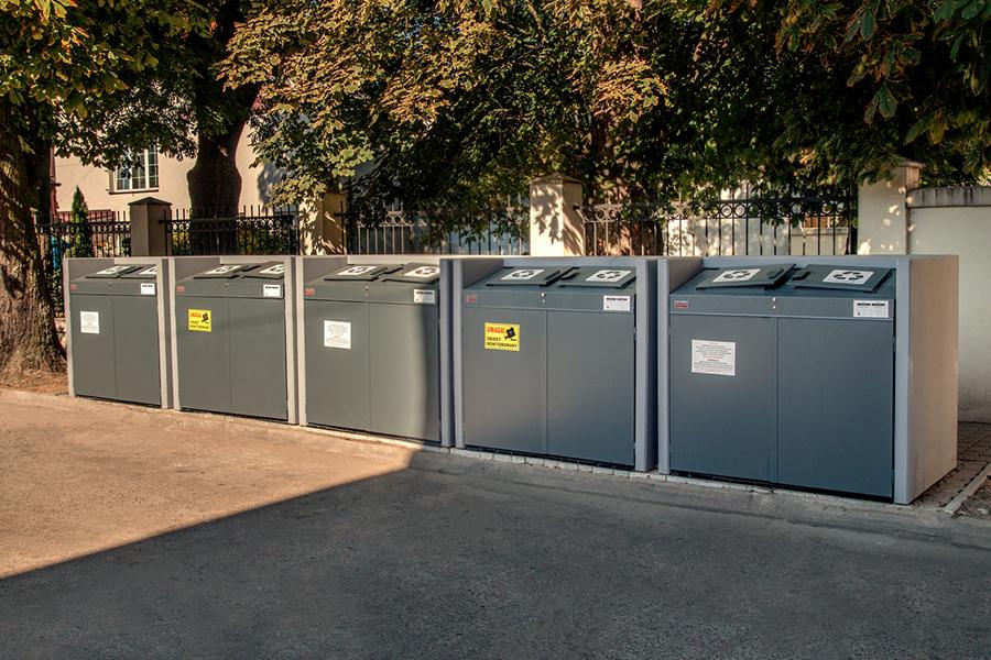 Obudowy pojemników na odpady