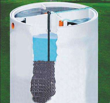 schemat bioreaktora z osadnikiem wtórnym bez wymiarów